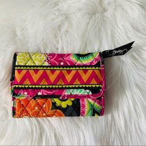 Vera Bradley mixed print snap closure wallet
